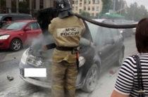 В Казани снова загорелся автомобиль