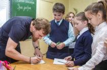 Обухов рассказал школьникам каким должно быть добро