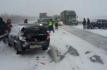 На трассе М7 в сторону Казани произошло множество ДТП
