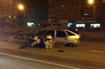 В Челнах автомобиль взорвался после ДТП, водитель в коме