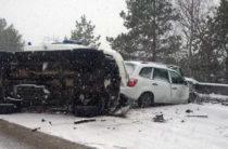Крупное ДТП в Ульяновской области, очевидцы сообщают о погибшем