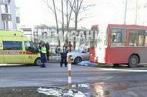 В Казани на улице Файзи автобус насмерть сбил пенсионерку