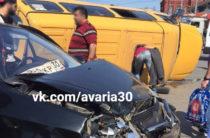 ВИДЕО: В Астрахани перевернулась «маршрутка» с пассажирами, есть пострадавшие