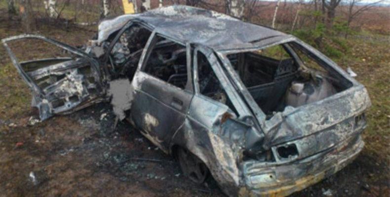 В Удмуртии «Лада» загорелась после ДТП, водитель погиб