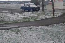 11 мая. В Татарстане выпал снег (Видео)