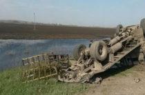 В Самарской области КАМАЗ врезался в фургон BAW
