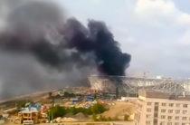 В Волгограде на строящемся к Чемпионату мира стадионе произошел пожар