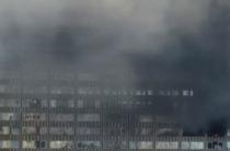В Москве на Новом Арбате в высотке произошел сильный пожар