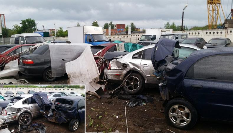 ВИжевске нетрезвый шофёр такси поломал как минимум 10-ти авто