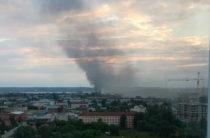 Пожар в Кировском районе Казани. Горит частный дом