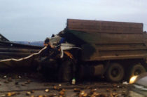 Опубликовано видео жуткой аварии под Заинском