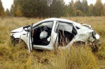 В Елабужском районе Татарстана водитель «Киа» опрокинулся в кювет и погиб