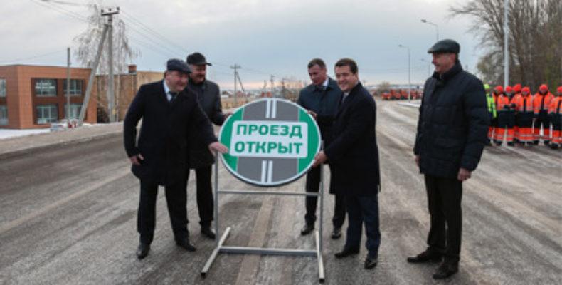 В Казани открыли движение по новому участку дороги в Салмачи