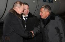 Президент России Владимир Путин прибыл в Казань