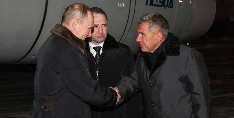 Владимир Путин в Казани