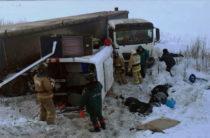 В Башкирии 9 человек погибли при столкновении автобуса и фуры