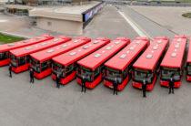 Пополнение. В Казань прибыли 94 новых «краснобуса»