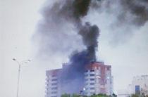 В строящемся доме в «Салават купере» произошел пожар