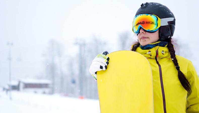 Горнолыжный курорт, сноуборд