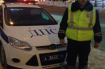 В Казани экипаж ГИБДД помогли роженице добраться до роддома