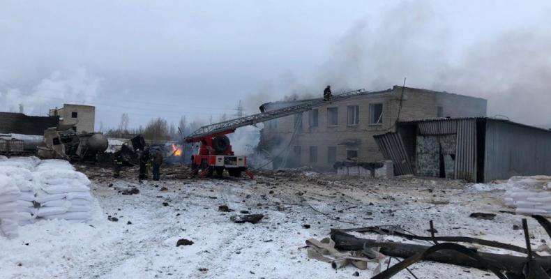 Взрыв на заводе в ленобласти