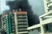 На строительной площадке возле Чаши произошел пожар