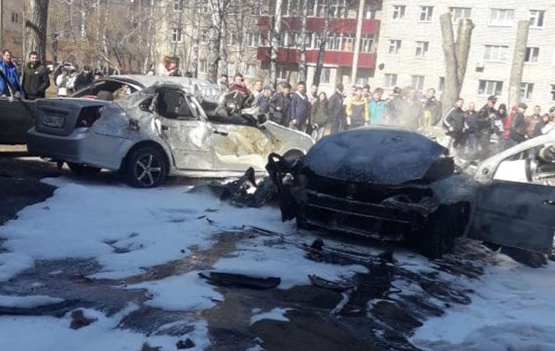 В Нижнекамске взорвался автомобиль