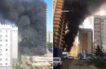В Казани на Ноксинском спуске горит дом