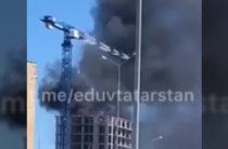 Соцсети: Под Казанью горит строящийся дом ЖК «Южный парк»
