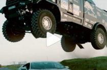 Кто быстрее, КАМАЗ или Lamborghini? Новый ролик от Red Bull