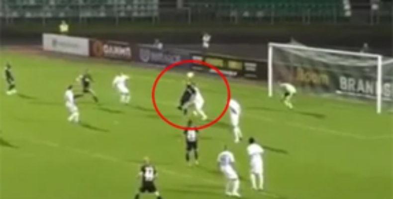 Чудо-гол игрока «Торпедо» в матче ФНЛ (Видео)