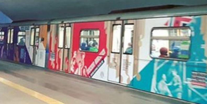 В казанском метро начал курсировать брендированный поезд