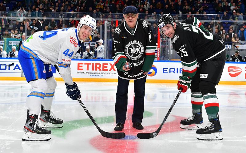 Бердыев на хоккее Ак Барс