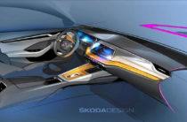 Компания SKODA опубликовала эскизы интерьера новой OCTAVIA