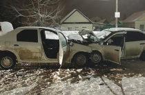 В Башкирии три человека пострадали при лобовом столкновении «Лады» и «Рено»