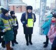 В Альметьевске сотрудники ГИБДД совместно с представители ЮИД провели ликбез для водителей и пешеходов