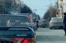 В Ульяновске девушка на иномарке врезалась в трамвай