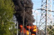 В Елабуге пожар на подстанции, несколько населенных пунктов остались без света
