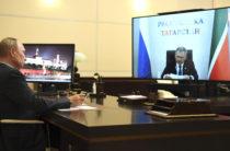 Путин поддержал Минниханова при выдвижении на третий срок на пост главы Татарстана