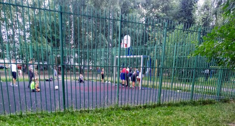 Двор, спортивная площадка