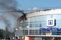 В Альметьевске загорелся торговый центр «Панорама»