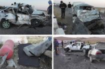 ФОТО: В Узбекистане на «встречке» столкнулись две «Нексии». Оба водителя погибли