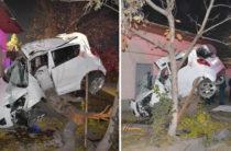Смертельное ДТП в Ташкенте водитель «Шевроле Спарк» на всем ходу врезался в дерево (Фото)