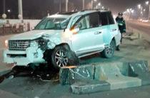 ФОТО: В Ташкенте водитель из Киргизии устроил ДТП заснув за рулем