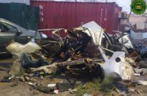 В Ташкенте перед жилым домов взорвалась «Нексия». Машину разорвало