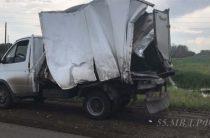 В Омской области столкнулись пассажирский автобус и два грузовика, есть пострадавшие