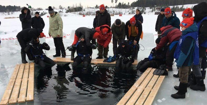 В Казани аквалангисты установили мировой рекорд подводного погружения