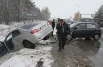 Пять автомобилей столкнулись в Высокогорском районе РТ