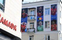 Сборная Бельгии поблагодарила Казань за баннеры с игроками