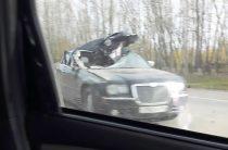 Жесткое ДТП в Татарстане: трактор вспорол крышу Крайслера